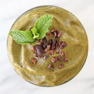 Mint Cacao Nib Shake