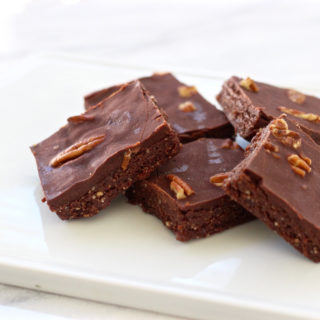 Raw Chocolate Glazed Brownies
