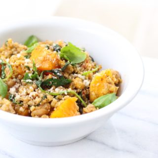 Cauliflower Rice Bowl with Sundried Tomato Pesto