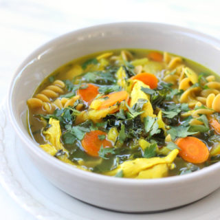 Turmeric Bone Broth Chicken Noodle Soup
